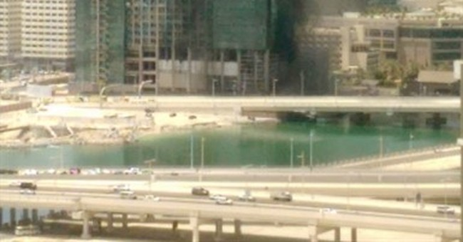 High-rise tower being built in Abu Dhabi catches fire