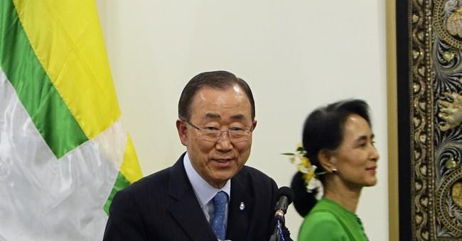 Ban Ki-moon tells Myanmar world concerned about Rohingya