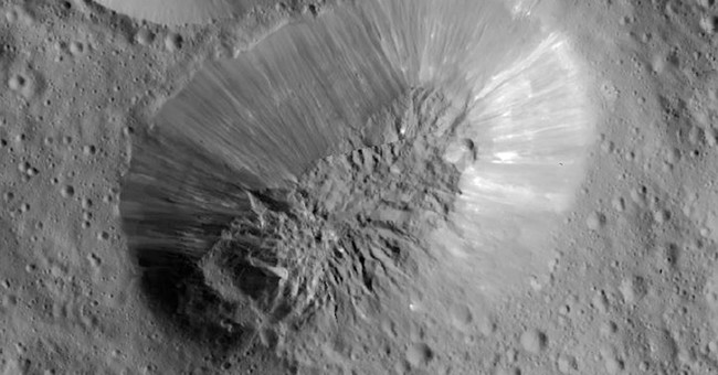 Inactive volcano spotted on largest object in asteroid belt