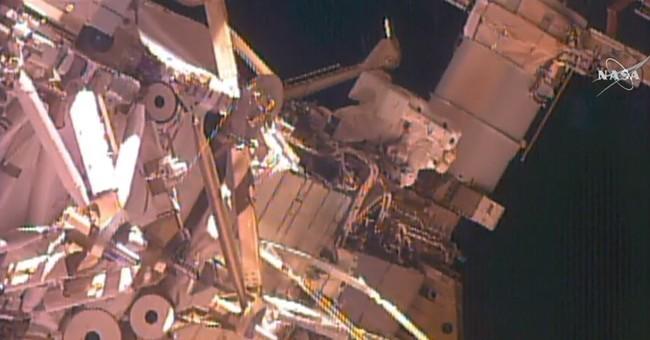Astronauts take 2nd spacewalk in 2 weeks for radiator work