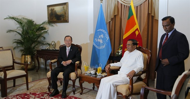 Nationalists protest UN chief's visit to Sri Lanka