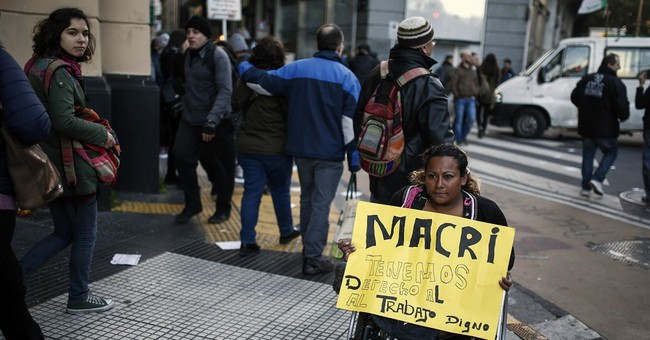 Argentines protest president's job cuts, subsidy reductions