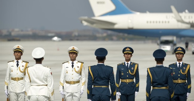Bumpy beginning for Obama in China, starting on the tarmac