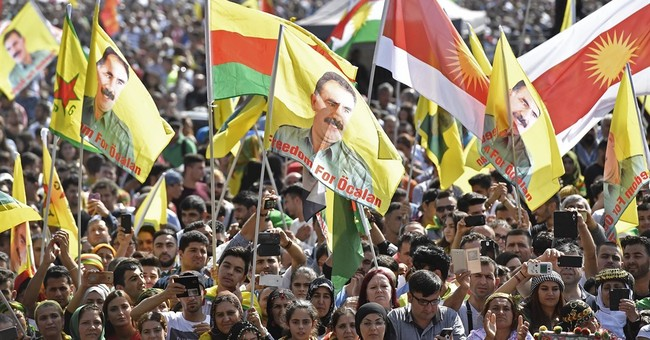 Thousands of Kurds demonstrate in Cologne, Germany
