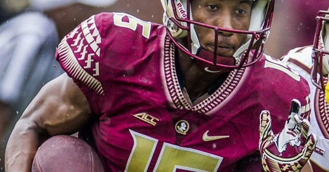 Florida State receiver gives jersey to autistic friend
