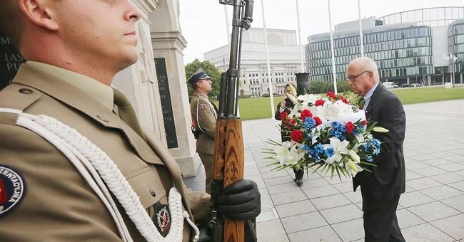 Children of US World War II POWs on emotional Poland visit