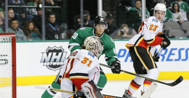Stars beat Calgary 2-1 in their last game before break