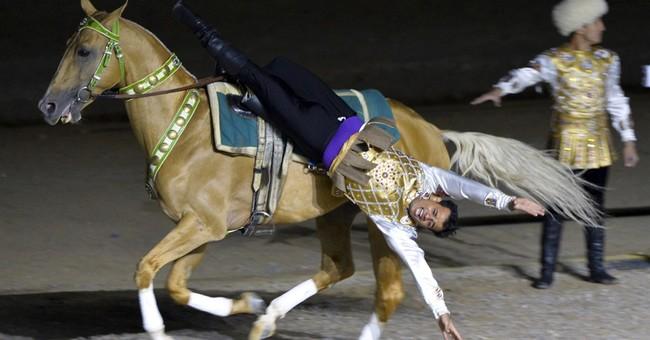 Goat polo, stick-wrestling, bone-throwing at nomad Olympics