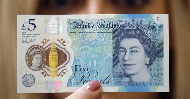Britain's new 5-pound note to be made of plastic