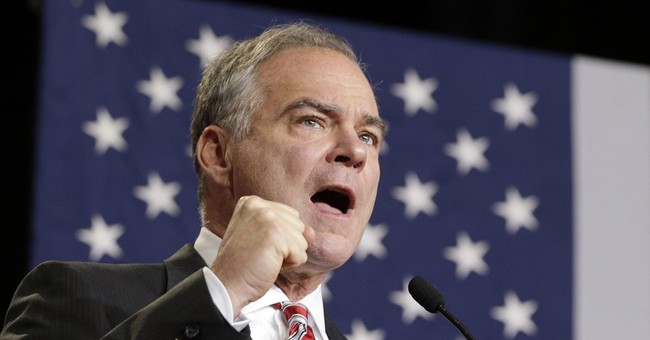 Kaine touts foreign policy background, hits Trump in speech