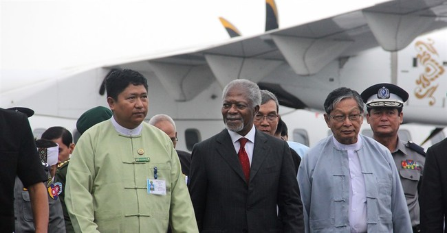 1,000 in Myanmar protest Annan examining religious conflict
