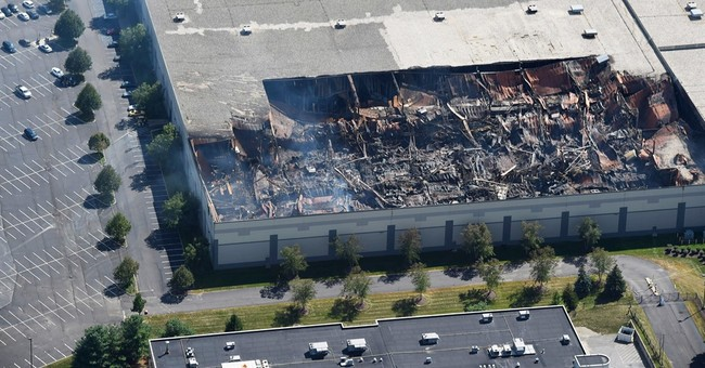 Police say fire at Gap Inc. distribution center was set