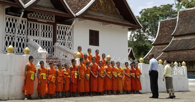 Laos temple town excited it's on world map with Obama visit