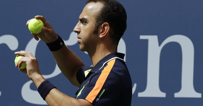 Ball men? At US Open, chasing down balls has no age limit