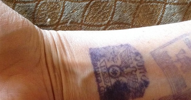Nazi hand stamps used to mark visitors to Ecuadorean jail