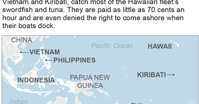 Foreign fishermen confined to boats catch Hawaiian seafood