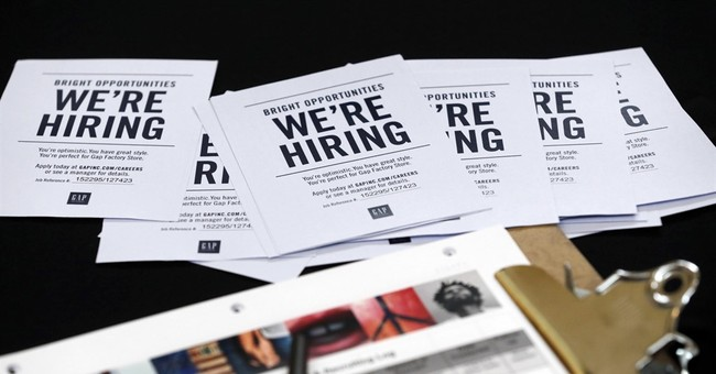 Applications for unemployment benefits slipped last week