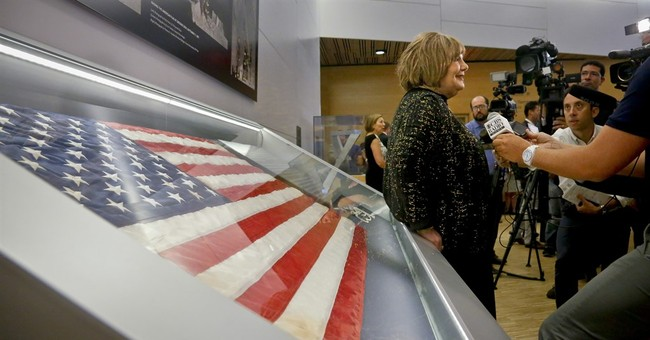 Vanished flag from famous 9/11 photo returns to ground zero