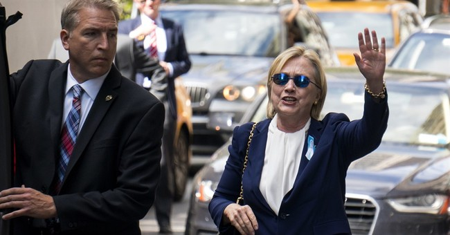 The Latest: Clinton texts backers that she's 'feeling fine'