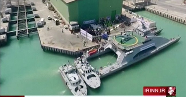 Iran unveils new helicopter-carrying catamaran ship