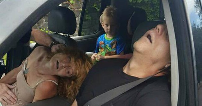 Ohio boy seen in car with passed-out adults gets new home