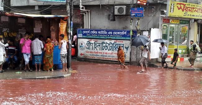 Animal sacrifices turn Dhaka streets into rivers of blood