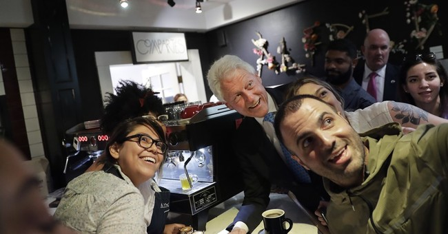 With his wife sidelined, Bill Clinton steps in to fill void