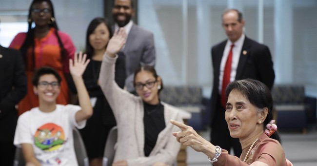 Suu Kyi urges US investment to spur Myanmar transition