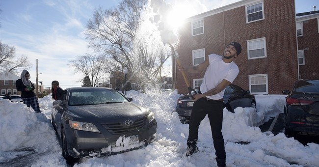 In snowed-under cities, many struggle to return to work