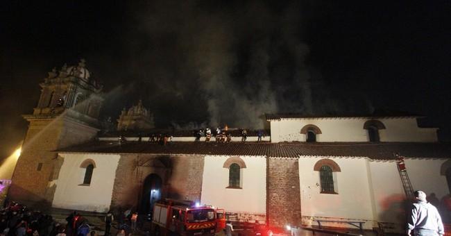 Blaze destroys much of 16th century Peru church