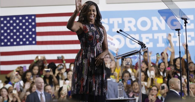 Michelle Obama warns young voters against being 'turned off'