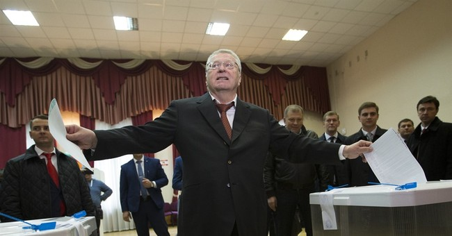 Early results: Ruling party winning Russian parliament vote