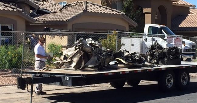 Feds investigating plane crash in suburban Phoenix home