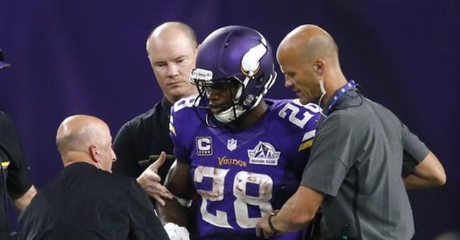 Zimmer: Adrian Peterson has torn meniscus in knee