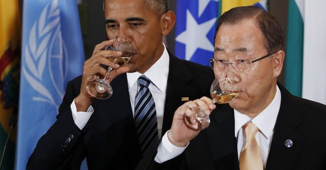 UN chief and US president toast each other for last time