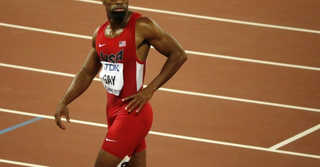 Tyson Gay in the field for USA bobsled push championships