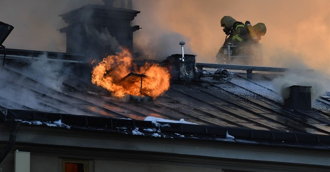 Swedish firefighters battle blaze at Stockholm art institute