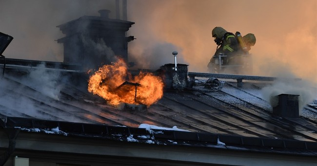 Swedish firefighters battle blaze at Stockholm art institute