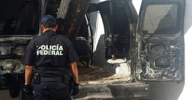 Mexican police: Van with cannon used to shoot drugs to US