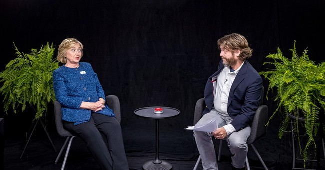 Clinton yukks it up 'Between Two Ferns'