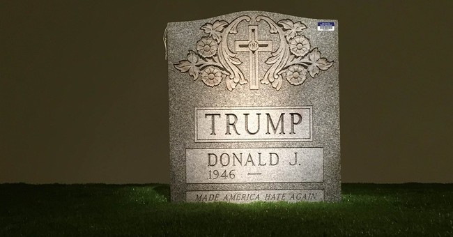 NYC 'Trump Tombstone' on display after police confiscate it