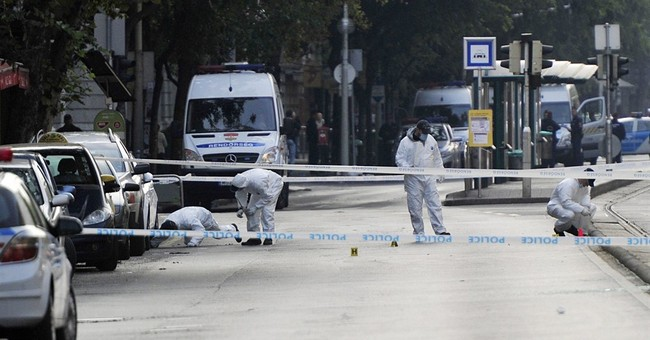 Hungary manhunt in Budapest blast that wounded 2 officers