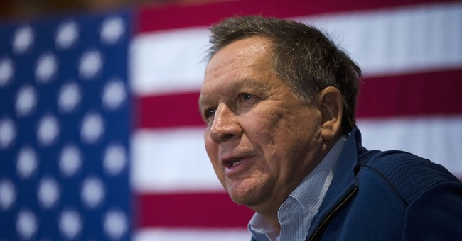 Ad against GOP candidate Kasich funded by mystery donors
