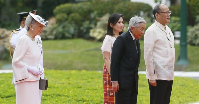Philippine leader welcomes Japan's emperor as ties blossom