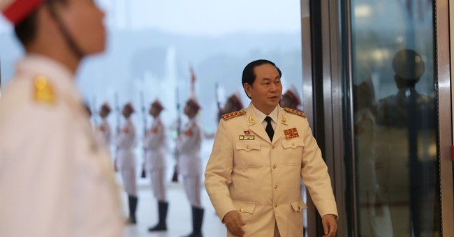 Re-elected Vietnam communist boss defends one-party rule