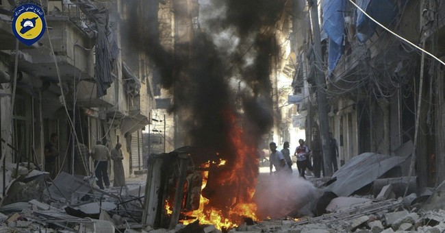 The Latest: Pope Francis condemns Syria bombing