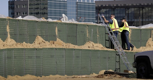 Flood barriers protect Cedar Rapids as river crests
