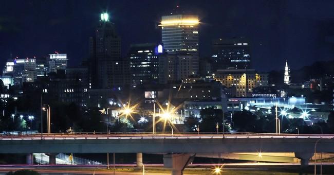 City skyline blinks in nightly ritual to cheer up sick kids