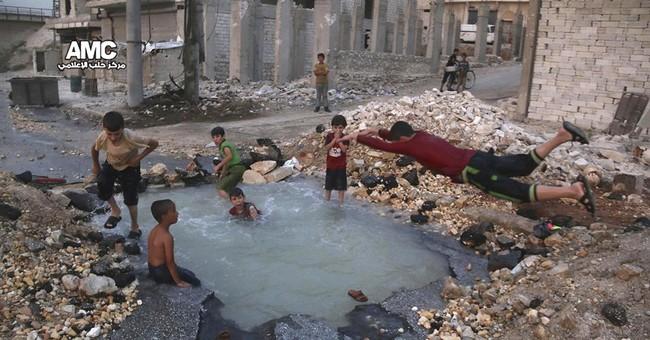 Children of Syria's Aleppo bear brunt of violent onslaught
