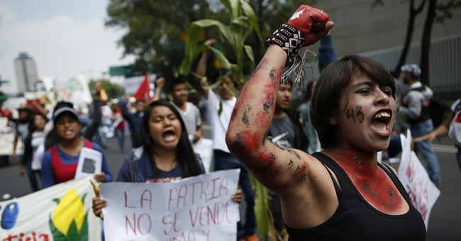 Mexican students march to mark anniversary of 1968 massacre